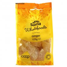 Suma Crystallised Ginger - 125g