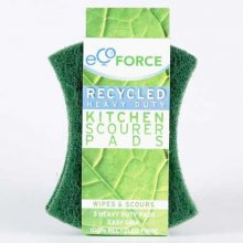 Ecoforce Recycled Heavy Duty Kitchen Scourer (2 pads)
