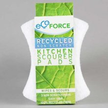 Ecoforce Recycled Non-scratch Kitchen Scourer (2 pads)