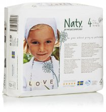 Naty by Nature Babycare Size 4 Medium Nappies (pack of 26)