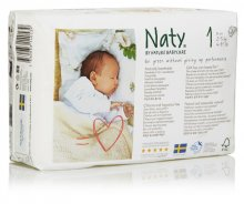 Naty by Nature Babycare Size 1 Newborn Nappies (pack of 25)
