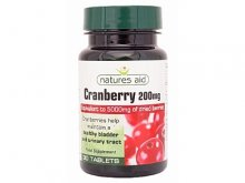 Natures Aid Cranberry (vaccinium macrocarpon) - 200mg (30 tablets)