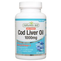 Natures Aid High Strength Cod Liver Oil - 1000mg (180 softgels)