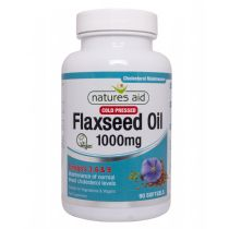 Natures Aid Flaxseed Oil 1000mg (90 softgels)