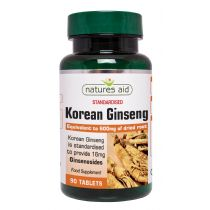 Natures Aid Korean Ginseng 40mg (90 tablets)
