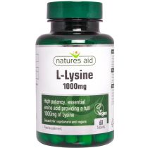 Natures Aid Lysine 1000mg (60 tablets) - Click Image to Close